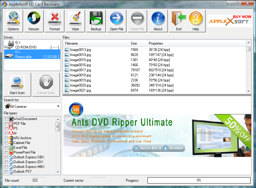 Recover deleted, formatted, corrupted or lost files from SD Card.